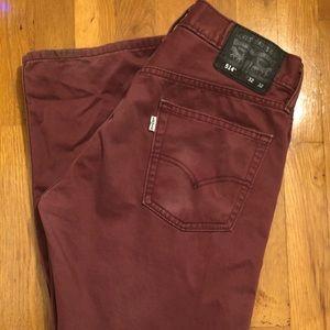 Levi's Burgundy Jeans 514